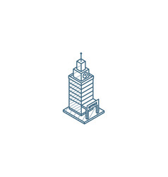 office city building urban skyscraper isometric vector image