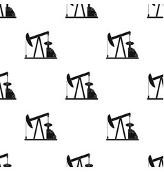 oil pumpoil single icon in black style vector image