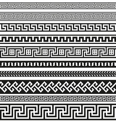Old greek border designs vector image