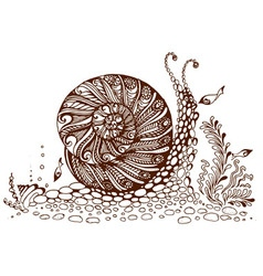 Painted snail vector image
