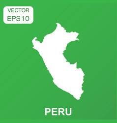 peru map icon business concept peru pictogram on vector image
