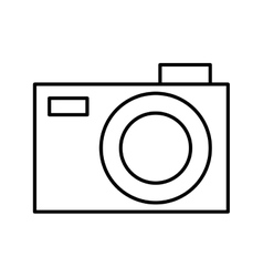 Photographic camera with flash icon vector
