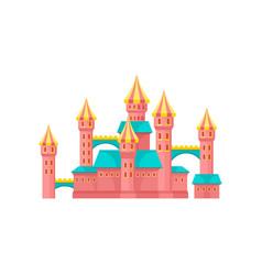 pink castle amusement park element vector image