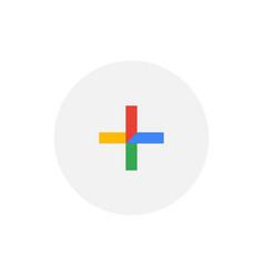 plus sign symbol simple design vector image