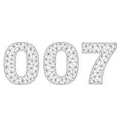 Polygonal carcass 007 text tag vector