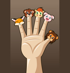 Puppet fingers vector