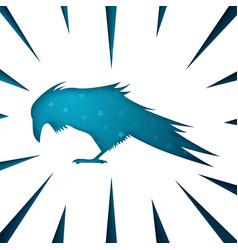 raven paper icon on the white background vector image