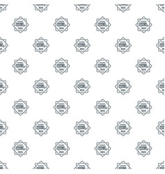 school bus pattern seamless vector image