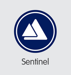 Sentinel cryptocurrency - sign icon vector