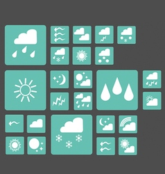 set of 25 web icons of weather vector image