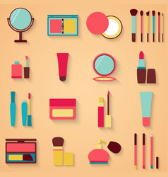 Set of beauty and cosmetics icons Makeup vector