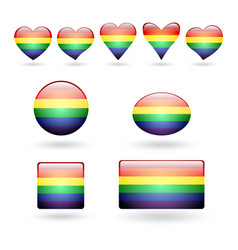 Set of lgbt symbols vector
