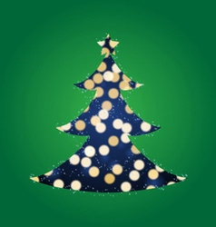 Shining Lights Christmas Tree vector
