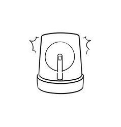 Siren hand drawn outline doodle icon vector
