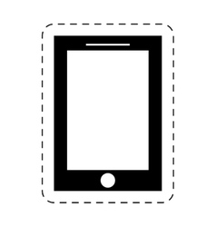 Smartphone device mobile technology pictogram vector
