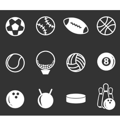Sports Balls icons set vector image