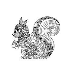 Squirrel animal ornament vector