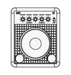 stereo speaker icon vector image