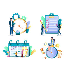 Task management concept isolated vector