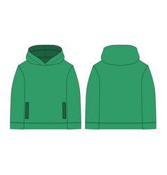 Technical sketch hoody children clothes hoodie vector