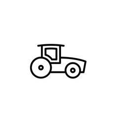 tractor icon with line style vector image
