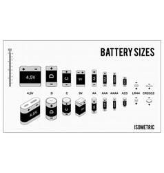 Types batteries vector