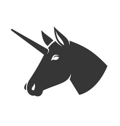 unicorn head icon logo sign vector image