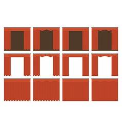 Velvet curtains vector