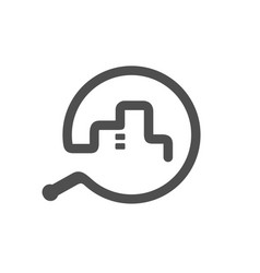 Whip symbols combined with city vector