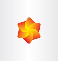 yellow red spiral flower icon vector image