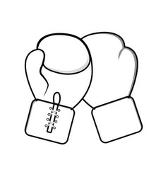 figure boxing gloves icon vector image vector image