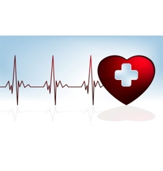 heart beat background eps 8 vector image vector image