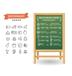 Restaurant Menu Board vector image