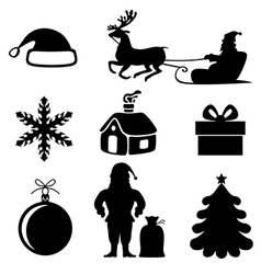 xmas sil set vector image