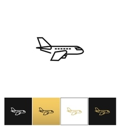 Air plane pictogram jet or aeroplane icon vector image vector image