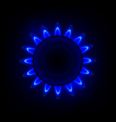 gas flame with blue reflection background vector image