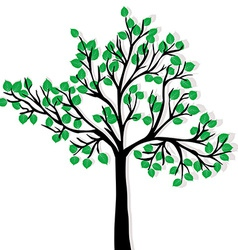 Green tree isolated over white background vector image