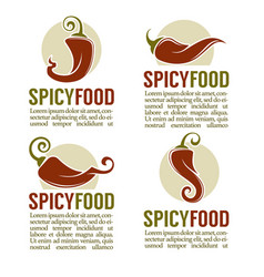 hot chili pepper logo icons stickers and emblems vector image