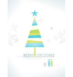 modern minimalistic stylized christmas tree vector image vector image