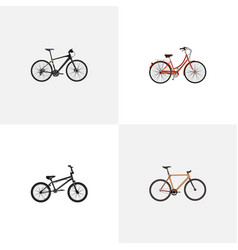 Realistic extreme biking retro timbered and vector