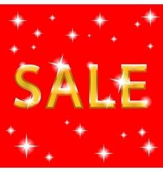 sale gold design vector image