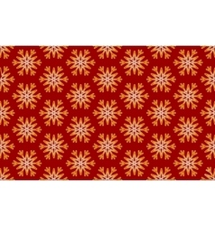 Seamless Pattern of Gold Snowflakes on a vector image vector image
