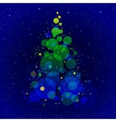 Abstract shining christmas tree vector image vector image