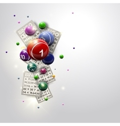 Bingo Balls and Cards Design Iluustration vector image