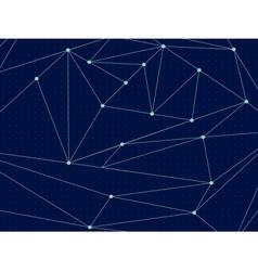 Cosmic polygonal line background vector image vector image