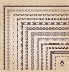 decorative corner borders and frames vector image