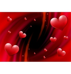 Valentines Day card with abstract vortex and vector image vector image