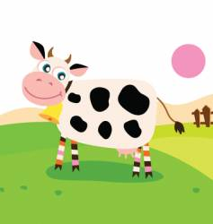 cow in meadow vector image vector image