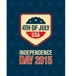 fourth of July American Independence Day vector image