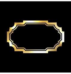 Gold frame Beautiful simple golden black design vector image vector image